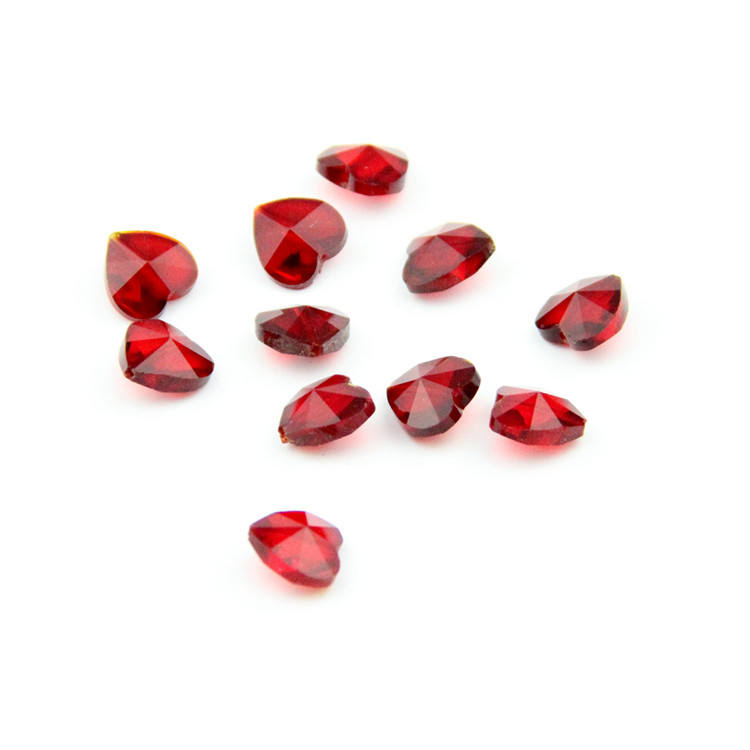 New Arrival ! 100pcs/lot One Middle Hole Red 14mm Crystal Hanging Beads Glass Heart Octagon Beads Jewelry Beads