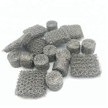 Gas Liquid Knitted Wire Mesh / moisture Separator / Knitted Mesh For Demister