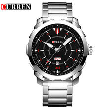 CURREN 8266 Mens Watches Top Brand Luxury Sport Quartz Watch 3ATM Waterproof Men's stainless steel Wrist watch