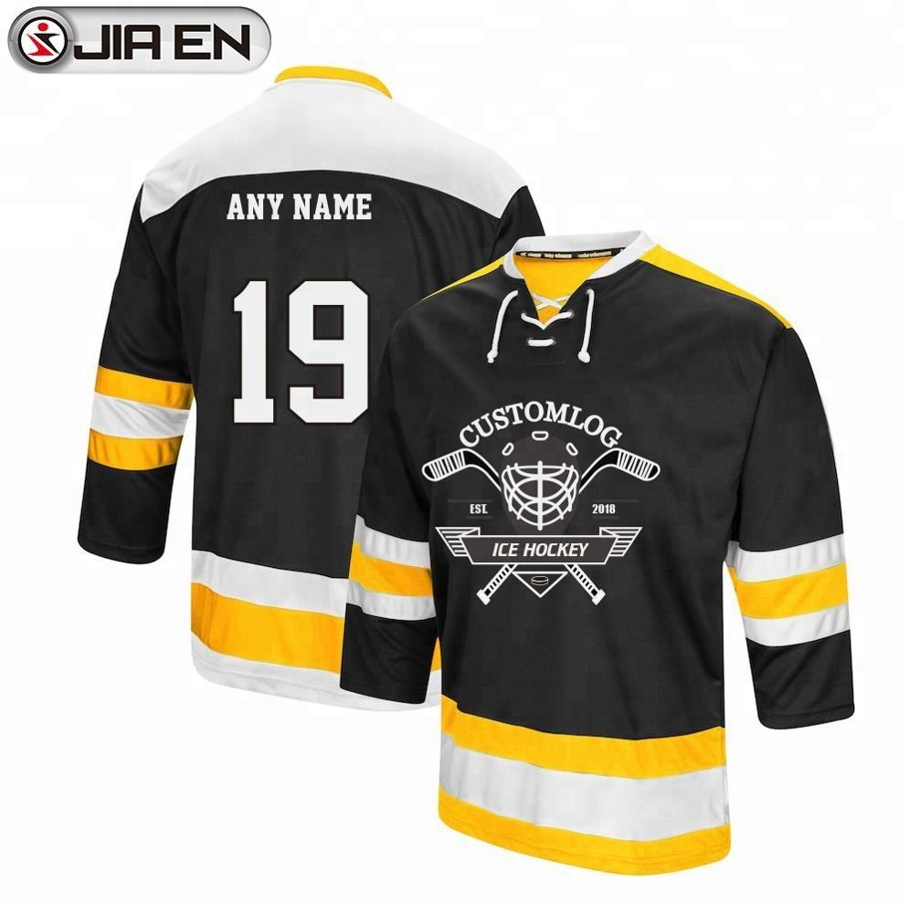 Custom Sublimation Black Hockey Jersey Design Ice Hockey Sports Apparel