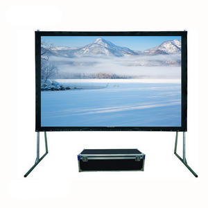 Large portable foldable stand 200 inch fast fold projector screen