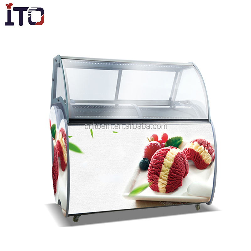6/10 trays ice cream display batch freezer