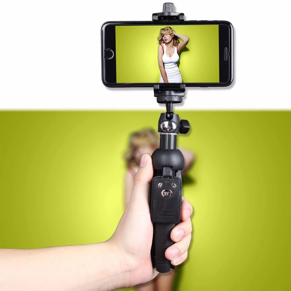 YUNTENG 9928 Wireless Bluetooth Remote Extendable Selfie Stick Monopod phone stand holder 3 in 1 Camera Tripod for smartphone
