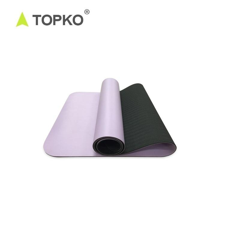 TOPKO Wholesale Latest Eco Friendly Fitness Exercise TPE + PU Yoga Mat 2mm - 6mm