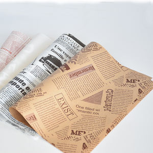 greaseproof food wrapping paper for burger