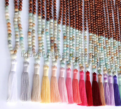Hot sale 8mm Amazonite beads Necklace Bohemian Jewelry Meditation Prayer Bead 108pcs beads Mala Necklace
