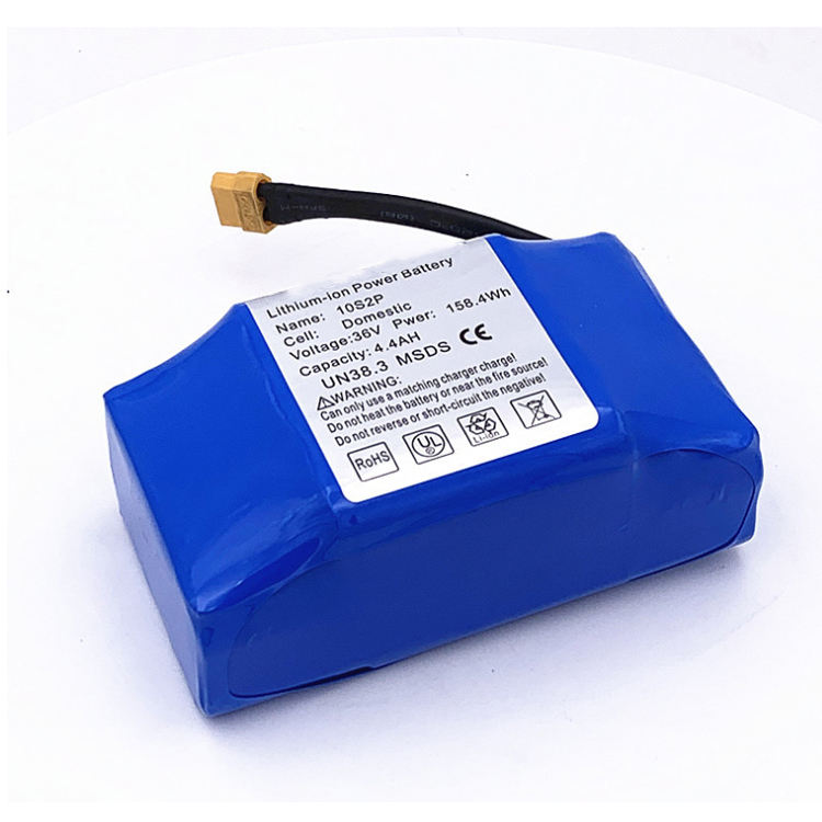 18650 10s2p li ion 158Wh 36v 4400mah hoverboard replacement battery
