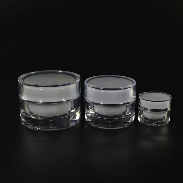 luxury cosmetic containers 5g 10g 15g 20g 30g 50g acrylic plastic cream jar