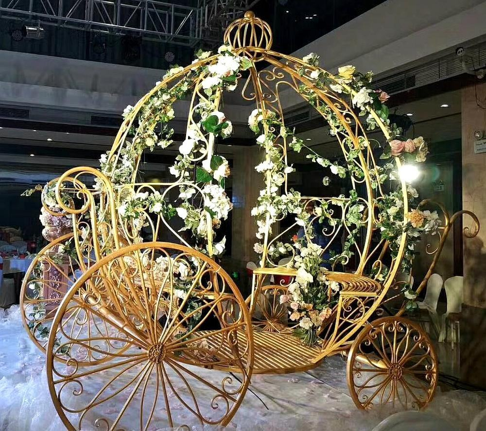 Star spring iron pumpkin carriage Cinderella's Coach stage backdrop garden wedding decorations