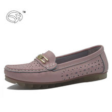Comfortable lazy shoes soft corrugated outsole popular ladies shoes shoe manufacturer