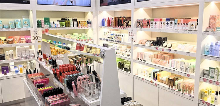 Store Layout Beauty Stores Retail Cosmetic Shop Display Cabinet Decoration Design Cosmetic Shop Layout