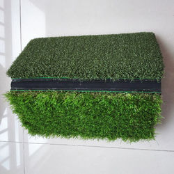 Mini  Portable Tri-Turf Golf Hitting Practice  Driving  Chipping Training Aids  3 in 1 Foldable Turf mat