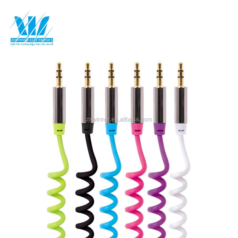 Mobil/Rumah melingkar Kabel Audio AUX Auxiliary <span class=keywords><strong>3</strong></span>.5mm Stereo Headphone
