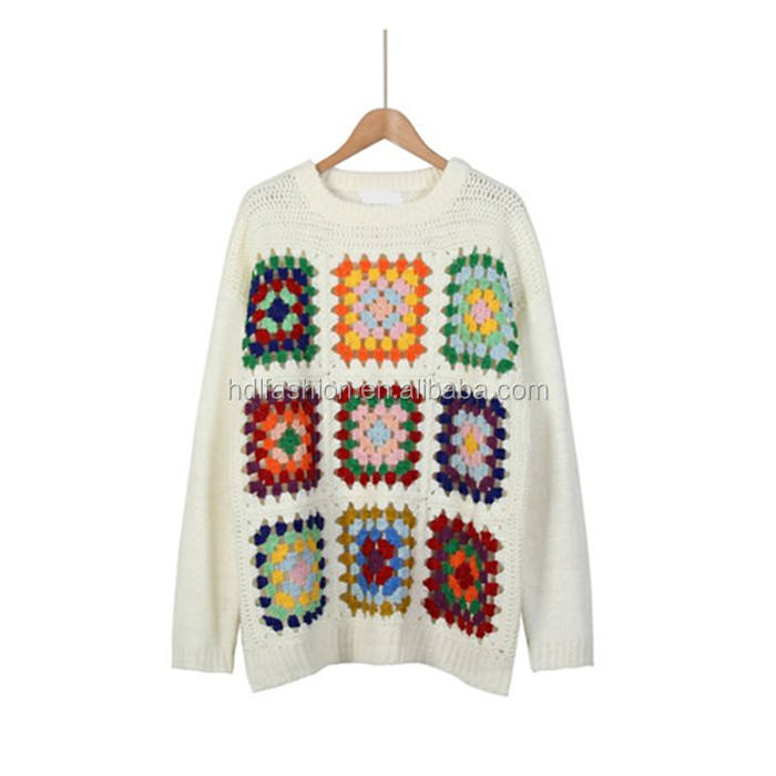 Fashion girls handmade sweater wholesale clothes women crochet top