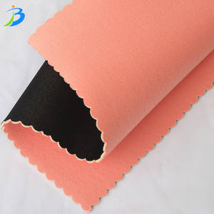 Jianbo yoga mat /shoes neoprene raw material rubber sheets surface composite colorful fabric