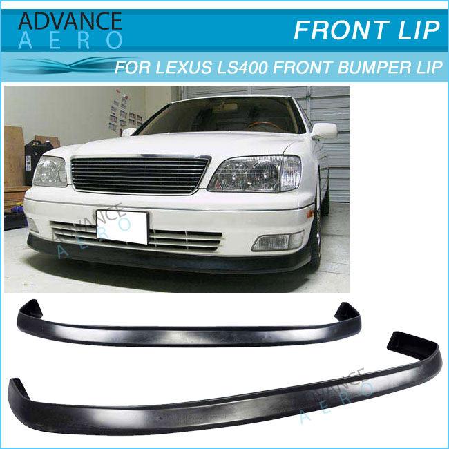 For Lexus ES350 13-15 Front Bumper Aero Lip Spoiler Unpainted Gray Chrome Plated