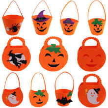 wholesale felt ghost witch basket pumpkin halloween candy bag