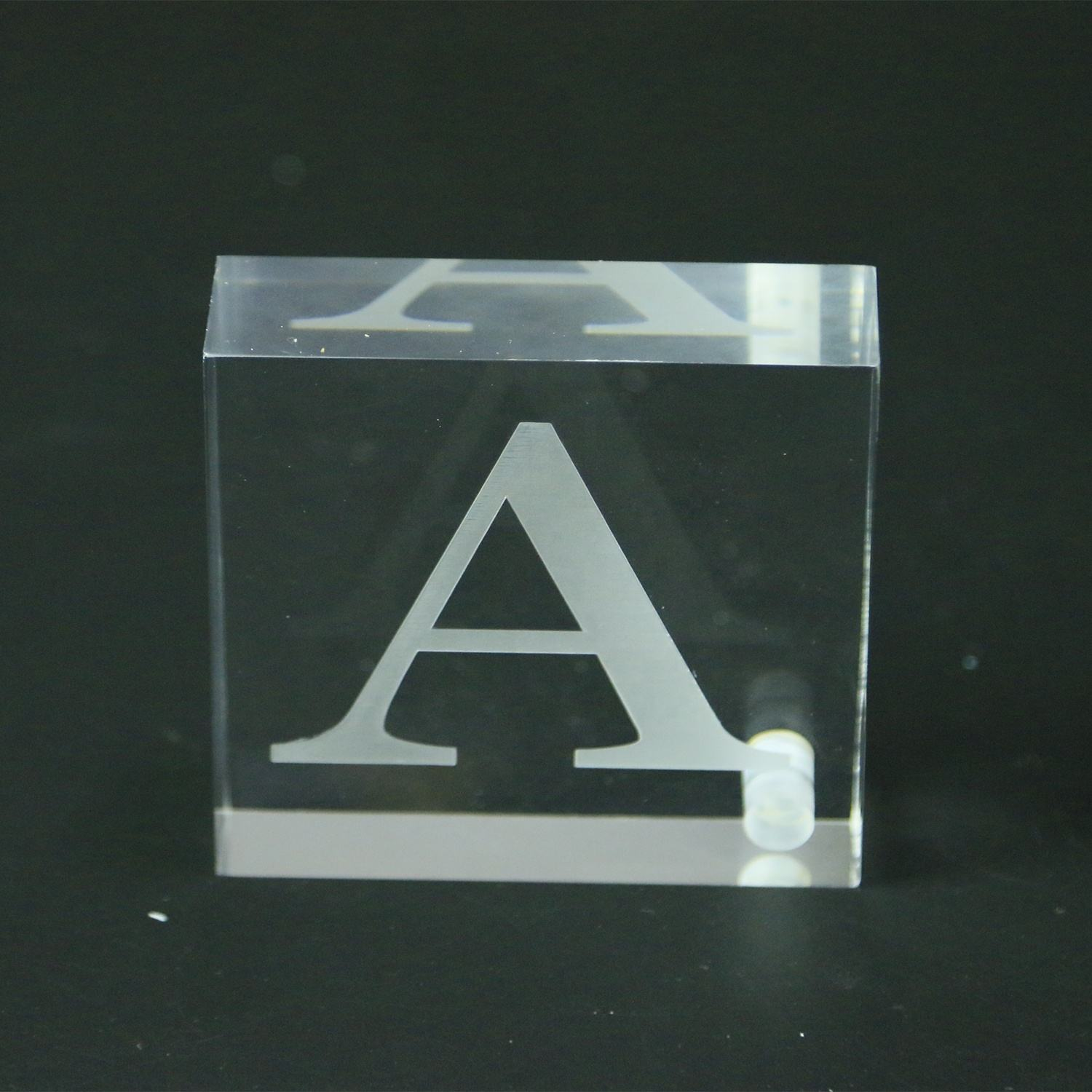 Transparent Clear Square Acrylic Lucite Dental Block Stamp Display Block