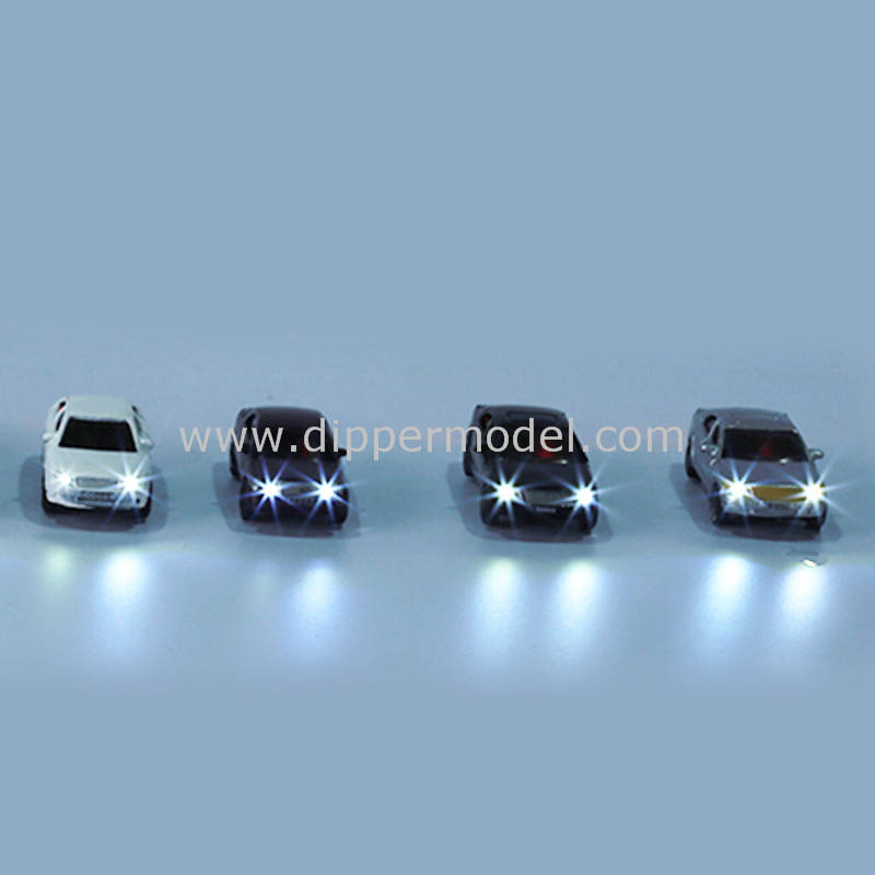 1:75 1:100 1:150 1:200 scale plastic miniature luminous model car with wires for architectural model making and DIY