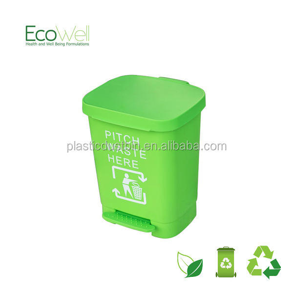 30Liter plastic office recyling bin with pedal