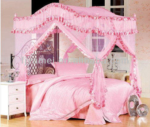 BED CANOPY CURTAIN ,STAINLESS STEEL POLE SET PRINCESS SERIES