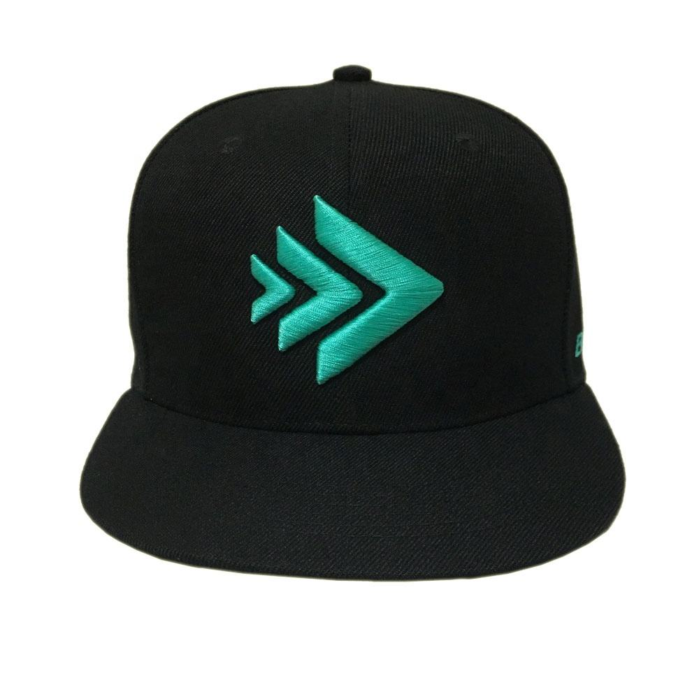 OEM high quality acrylic black 3D embroidery logo gorras cap custom snapback hats