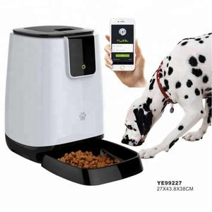 Support Samples 2020 New Smart Wifi Remote Control Pet Feeder Microchip Automatic Dog Pet Bowls Food Feeder