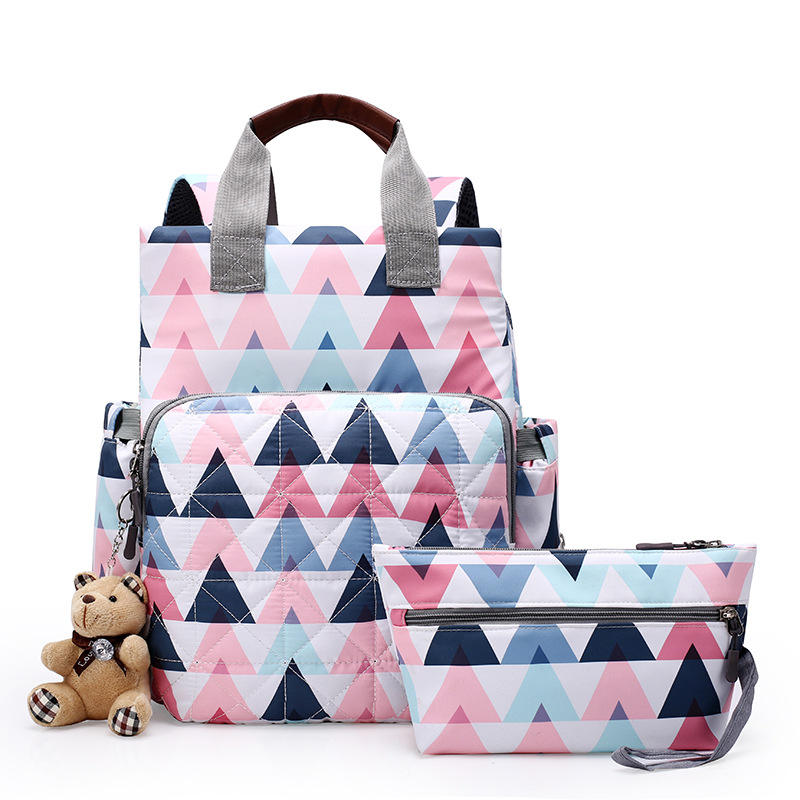 Fashion Multi-Function Women Travel Bag Diaper Nappy Tote backpack Baby Bags Set Mummy