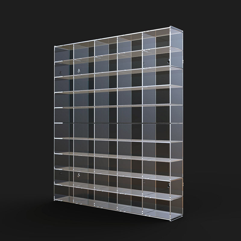 Free standing transparent lucite acrylic display shelve with high quality