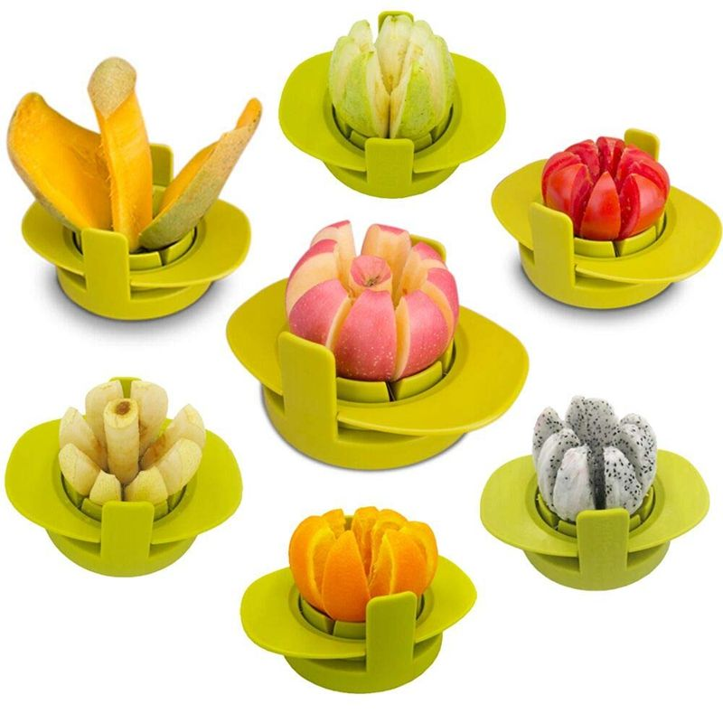 Stainless Steel Chopper Apple Cutter Corers Fruit Slicer Multi-function Cutters Knife Kitchen Cooking Vegetable tool