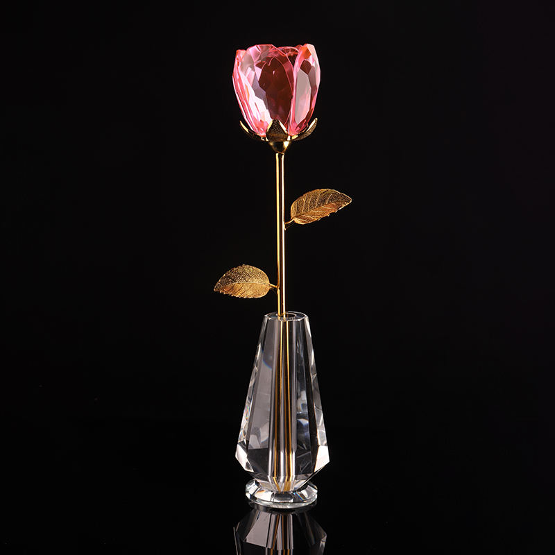 도매 wedding decoration new products (gorilla glass) crystal rose 꽃