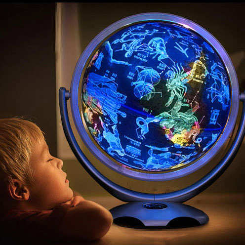 Factory direct sale constellation world globe with battery