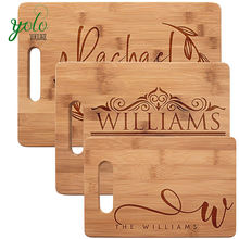 Natural High Quality  Personalized  Bamboo Wood Cutting Board For Kitchen Mothers day, Wedding Gifts