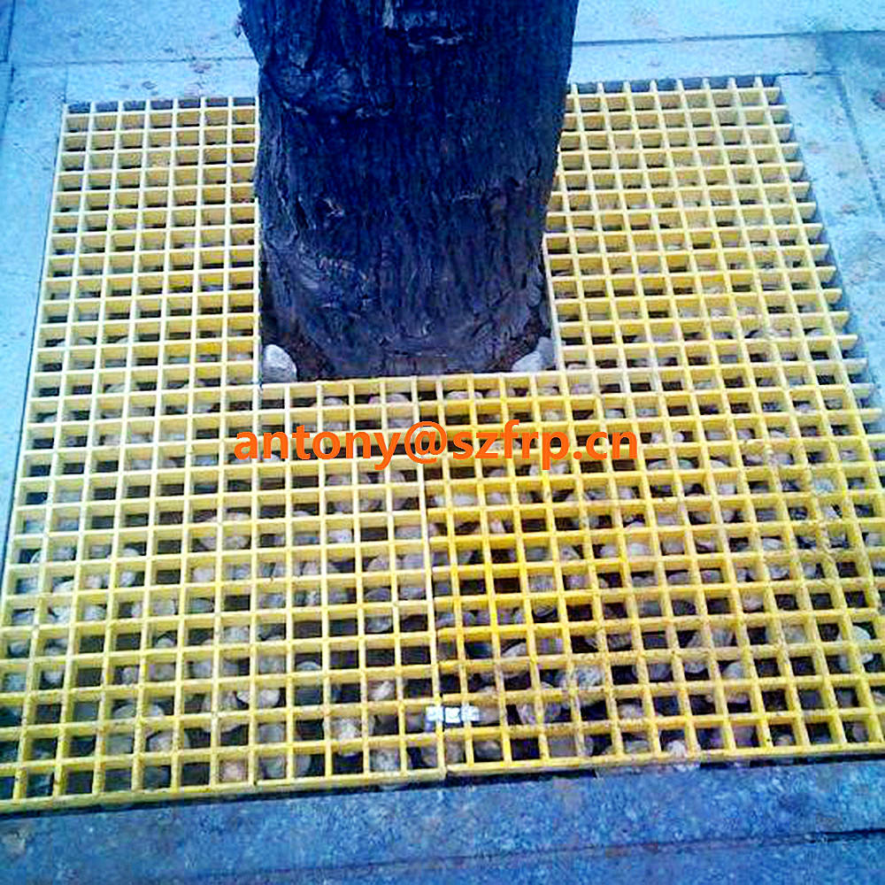 HOT! Fibra De Vidro Grating de FRP Grating Trincheira Capa use for A árvore pit