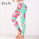2018 Stylish Flower Printed Quick Dry Sports Fitness Women Leggings Tight Capris Pants
