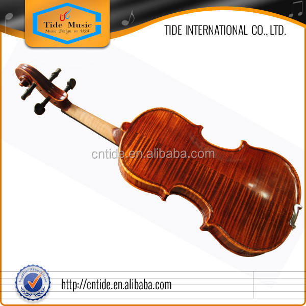 Flamed violin fiddle with case, excellent violin outfit, ready to play