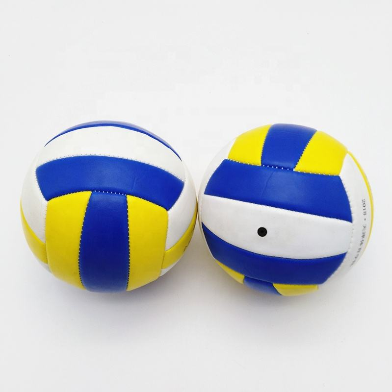 Hot Sale Mini Beach Volley Ball , Training Soft Rubber Bladder PU Size 2 3 4 5 Stitch Volleyball