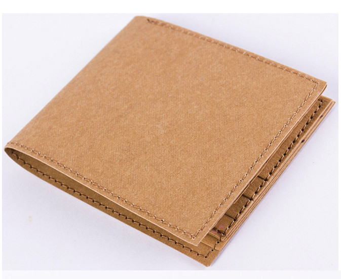 Custom handmade durable eco-friendly recycled washable kraft paper wallet