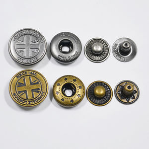 custom four parts engraved metal press snap button