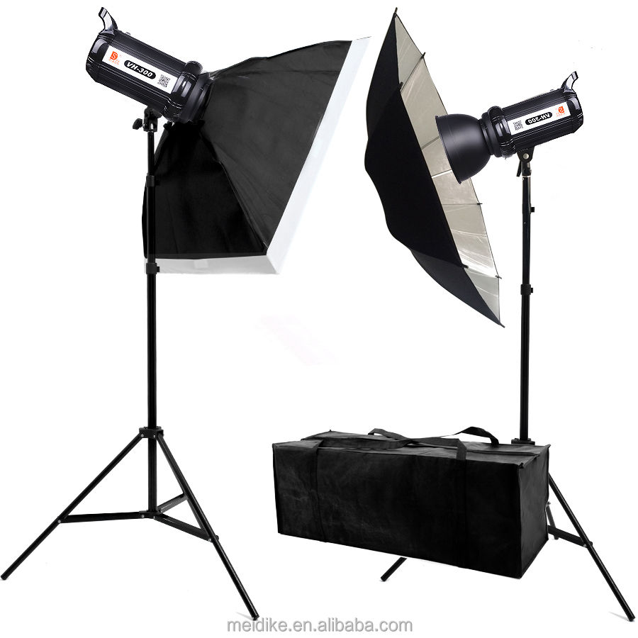 Flash light heads studio flash portable photo studio light kit