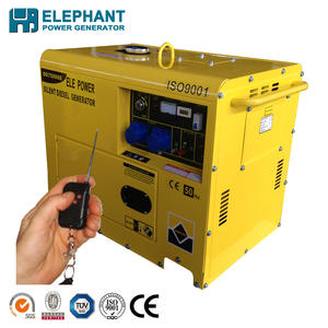 3kw/3kva 5kw/5kva silent diesel generator with electric start and remote start