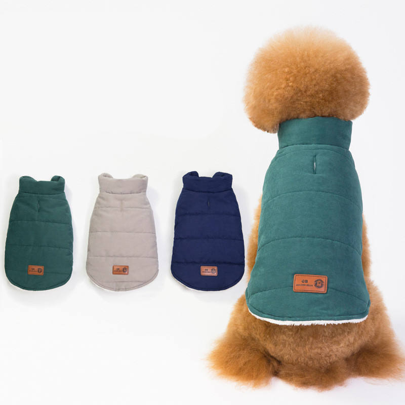 British Style Thicken Warm Comfortable Simply Warm Dog Coats Pet Clothes