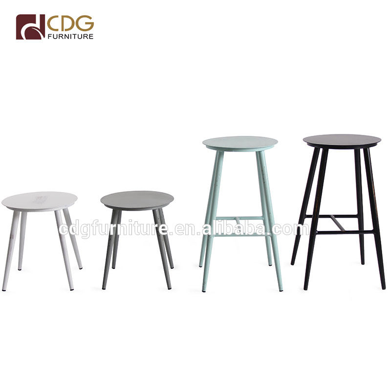 Vintage Metal Bar Counter Antique Furniture Modern Stool Retro Grey Vintage Acrylic Wedding Arm Chair For Club