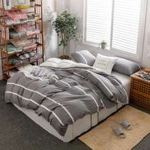 Home sense 100% cotton plaid stripe patchwork comforter set