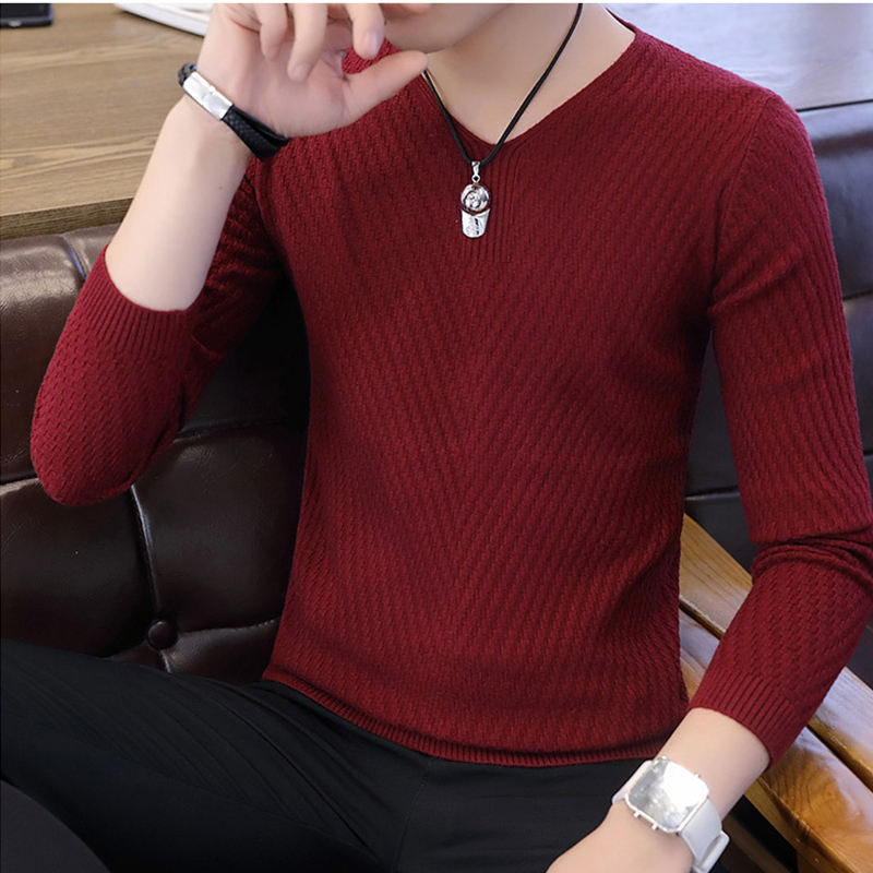 Cheap Price Pullover V Neck Plain Jersey Jumper Sweaters Knitting For Men