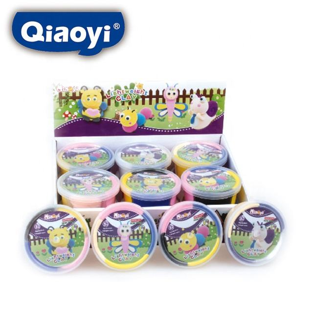 4 COLORS JUMPING CLAY PACKED IN A PLASTIC CASE WITH EN 71 1/2/3