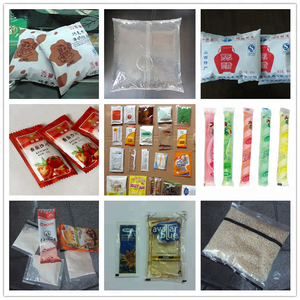 Shanghai China made back sealing roll film making pouch bags filling machine