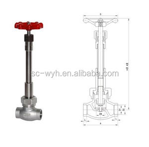 new advanced maunufactur high quality cryogenic long stem shut off valve