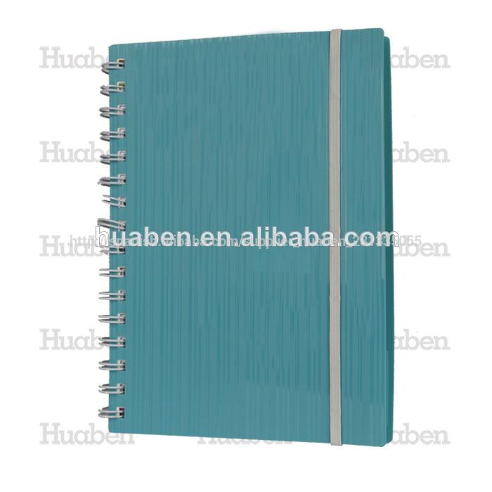 azul de plástico cuaderno