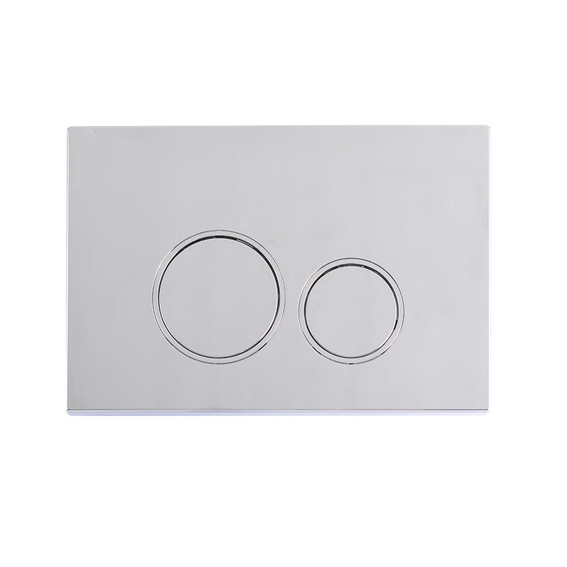 Toilet dual flush actuator plate for concealed cistern, polished chrome